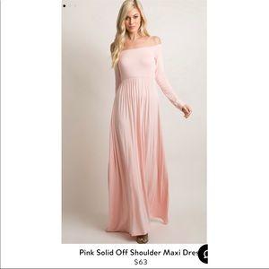Dust pink maternity dress